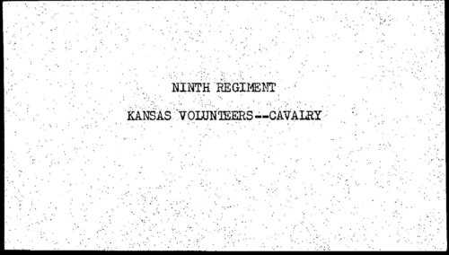Descriptive roll, Ninth Regiment, Cavalry, Kansas Civil War Volunteers, volume 2 - Page