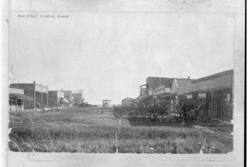 Main Street in Elsmore, Kansas - Page