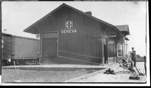 Atchison, Topeka and Santa Fe Railway Company depot, Geneva, Kansas - Page