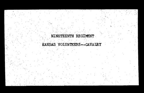 Roster, Nineteenth Regiment, Cavalry, Kansas Volunteers, volume 3 - Page