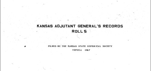 Muster out roll, First Regiment, Infantry, Kansas Civil War Volunteers, volume 1 - Page