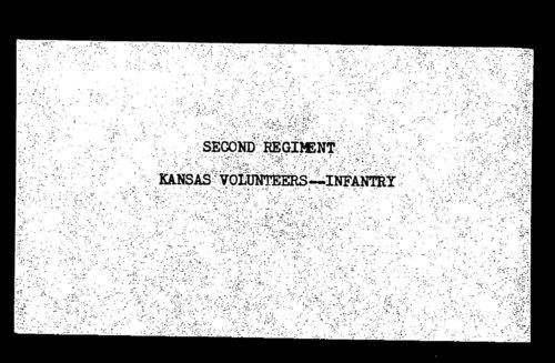 Muster out roll, Second Regiment, Infantry, Kansas Civil War Volunteers regiment, volume 2 - Page