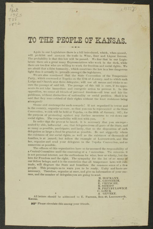 To the people of Kansas - Page