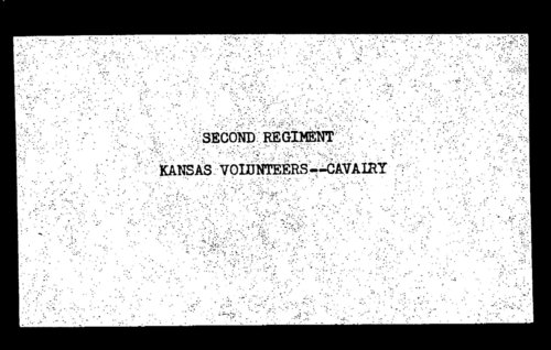 Muster out roll, Second Regiment, Cavalry, Kansas Civil War Volunteers, volume 3 - Page