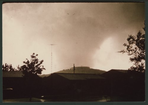 Tornado coming over Burnett's Mound in Topeka, Kansas - Page