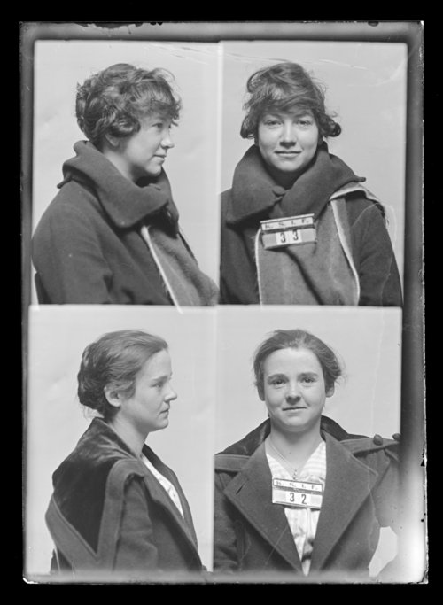 F. Bloomer and M. Fox, prisoners 32 and 33, Kansas State Industrial Farm for Women - Page