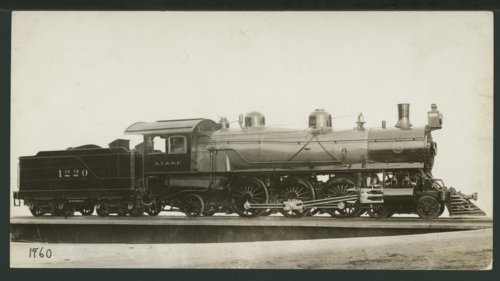 Atchison, Topeka & Santa Fe Railway Company's steam locomotive #1220 - Page