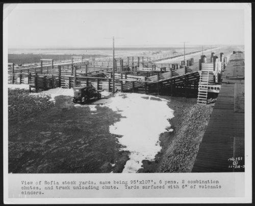 Atchison, Topeka & Santa Fe Railway Company stock yards, Sofia, New Mexico - Page