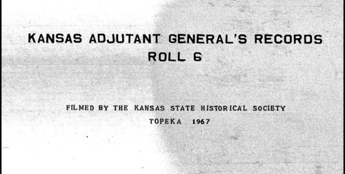 Muster out roll, Seventh Regiment, Cavalry, Kansas Civil War Volunteers, volume 1 - Page