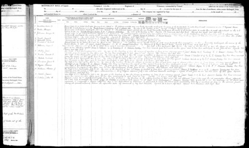 Muster out roll, Ninth Regiment, Cavalry, Kansas Civil War Volunteers regiment, volume 3 - Page