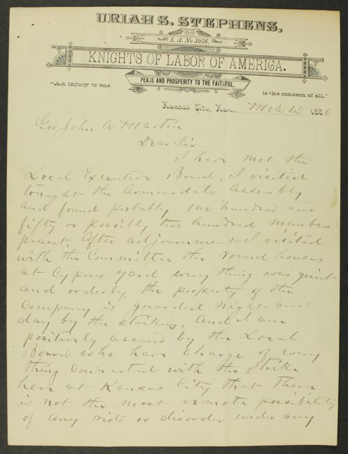 Frank H. Belton letter to Governor John Martin - Page