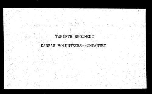Muster out roll, Twelfth Regiment, Infantry, Kansas Civil War Volunteers, volume 6 - Page