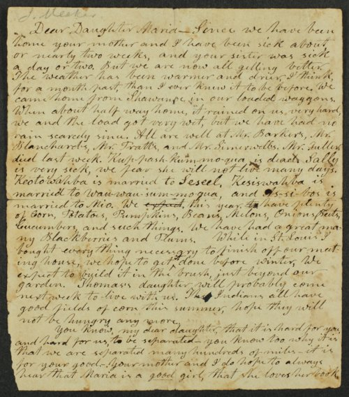 Jotham Meeker to daughter Maria - Page
