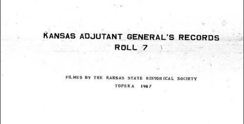 Muster out roll, Fourteenth Regiment, Cavalry, Kansas Civil War Volunteers, volume 1 - Page