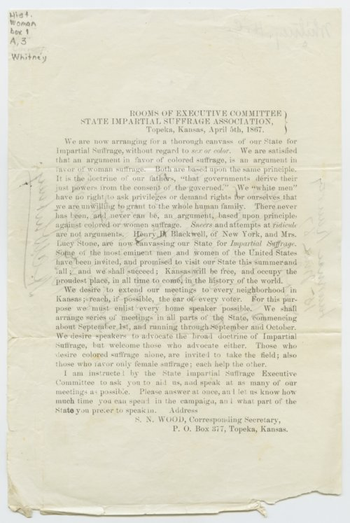 Circular of the State Impartial Suffrage Association - Page