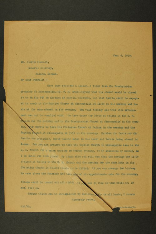 Temperance history correspondence - Page