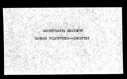 Muster out roll, Seventeenth Regiment, Infantry, Kansas Civil War Volunteers, volume 4 - Page