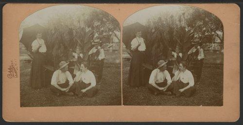 People in Carl Engel's garden in Manhattan, Kansas - Page