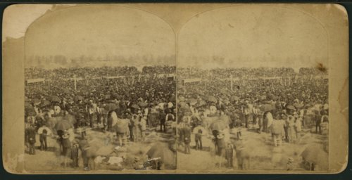 Crowd gathered to see James Gillespie Blaine in Topeka, Kansas - Page