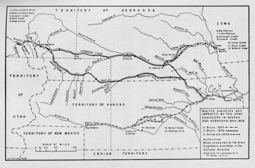 Routes surveyed and improved by Army engineers in Kansas and Nebraska - Page