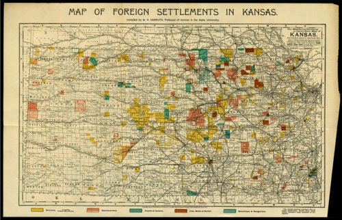Map of foreign settlements in Kansas - Page