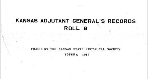 Muster rolls, Kansas State Militia, volume 11 - Page
