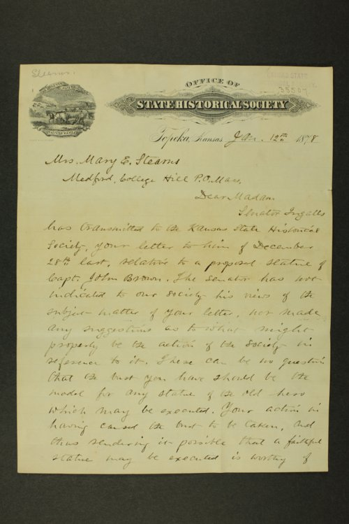Mary E. Stearns correspondence - Page