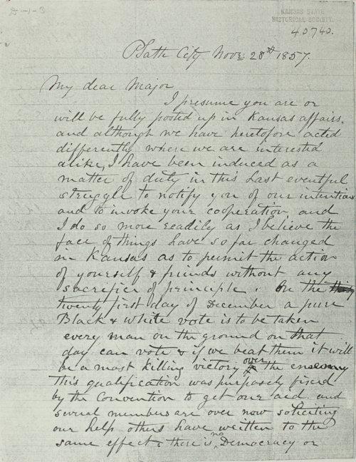 Joseph Walker to John Dougherty - Page