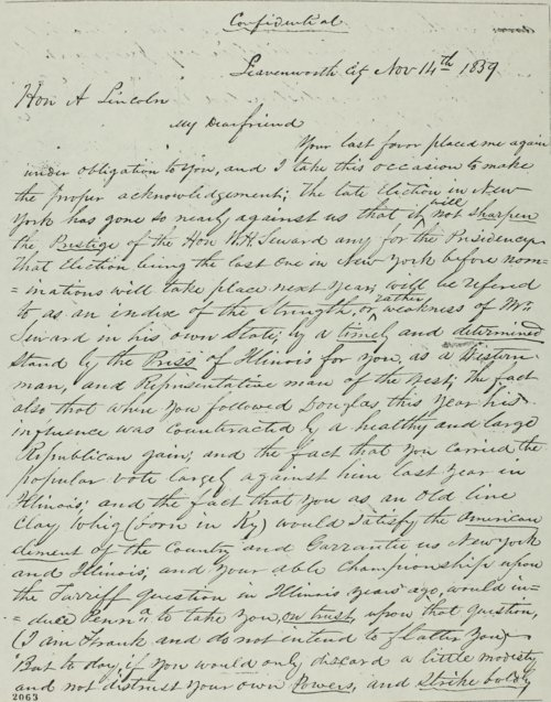 Mark W. Delahay to Abraham Lincoln - Page