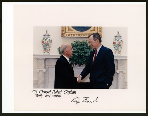 Robert T. Stephan with President George H. W. Bush - Page
