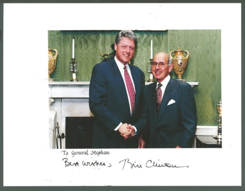 Robert T. Stephan with President Bill Clinton - Page