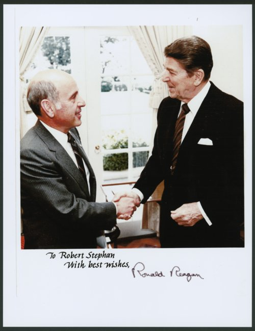 Robert T. Stephan with President Ronald Reagan - Page