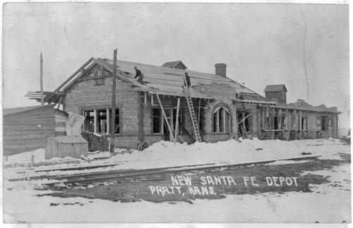 Atchison, Topeka and Santa Fe Railway Company depot, Pratt, Kansas - Page