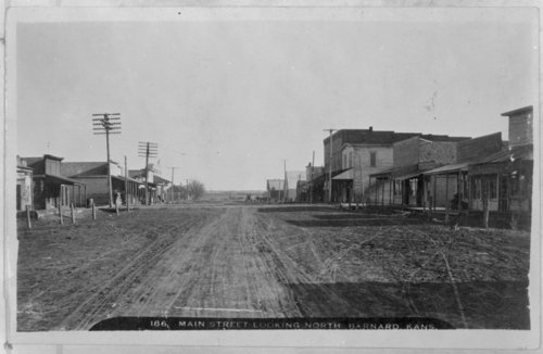 Main Street in Barnard, Kansas - Page