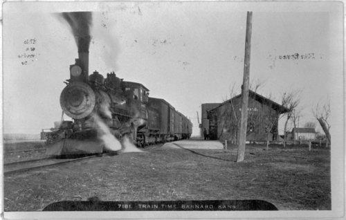 Atchison, Topeka & Santa Fe Railway train in Barnard, Kansas - Page