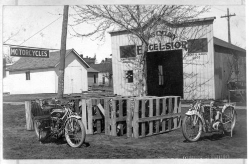 Excelsior motorcycle dealership in Lyons, Kansas - Page