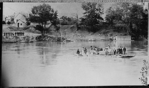 Ferry crossing the Kansas River - Page