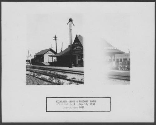 Atchison, Topeka & Santa Fe Railway Company depot, Highland, California - Page
