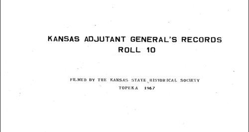 Muster rolls, Kansas State Militia, volume 9 - Page