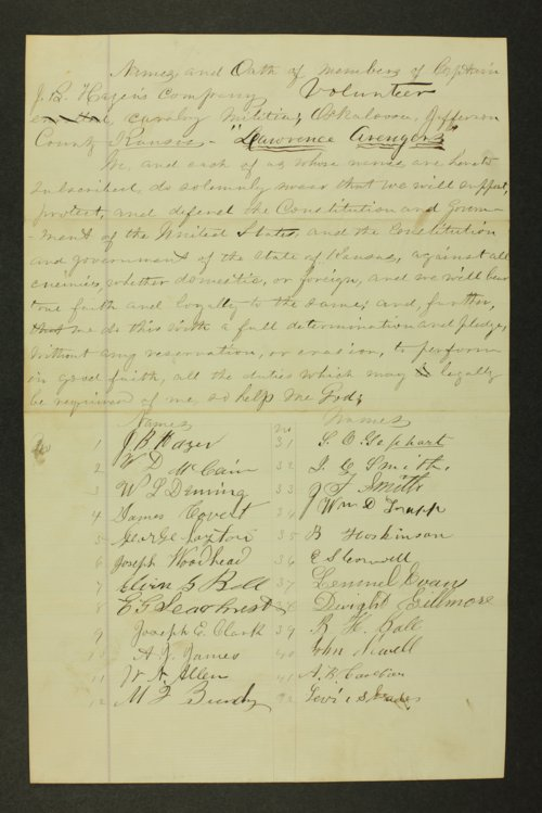 Kansas State Militia miscellaneous papers by county - Page