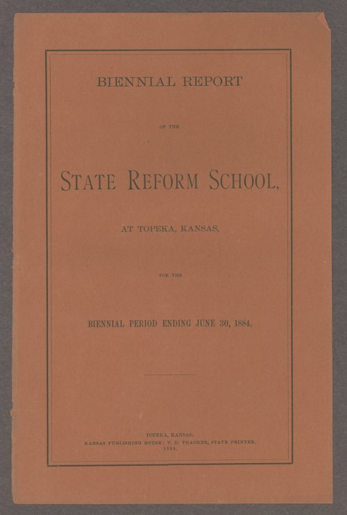 Biennial report of the State Reform School, 1884 - Page