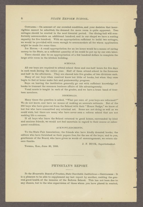 Biennial report of the State Reform School, 1888 - Page