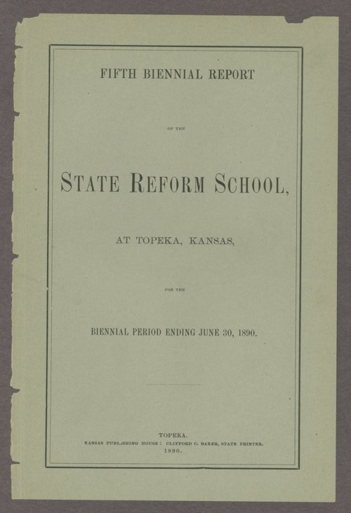 Biennial report of the State Reform School, 1890 - Page