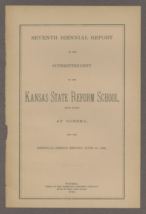 Biennial report of the State Reform School, 1894 - Page