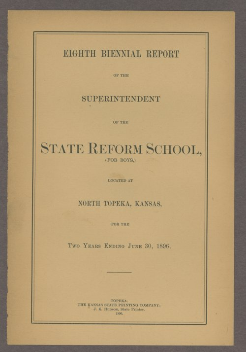 Biennial report of the State Reform School, 1896 - Page