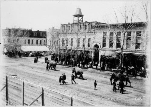 Bond Brother's Circus parade, Garden City, Kansas - Page