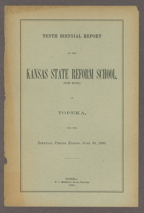 Biennial report of the State Reform School, 1900 - Page