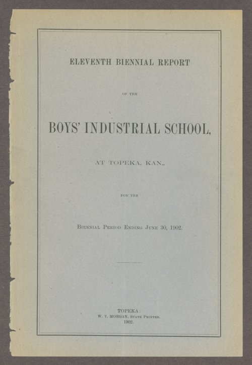 Biennial report of the Boys Industrial School, 1902 - Page