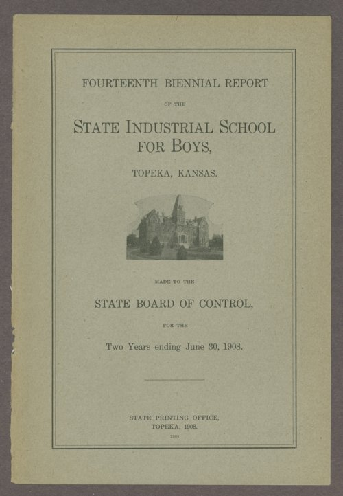 Biennial report of the Boys Industrial School, 1908 - Page