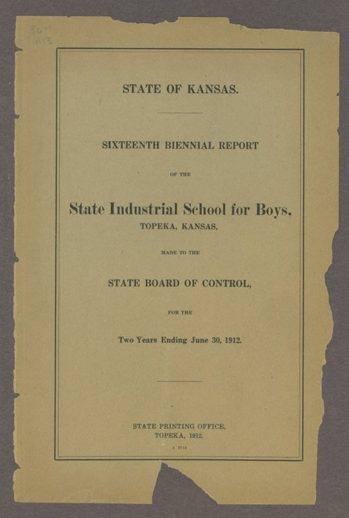 Biennial report of the Boys Industrial School, 1912 - Page